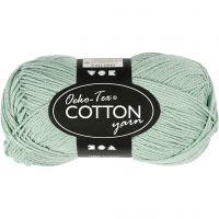 Cotton Yarn, no. 8/4, L: 170 m, mint green, 50 g/ 1 ball