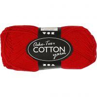 Cotton Yarn, no. 8/4, L: 170 m, dark red, 50 g/ 1 ball