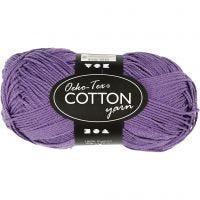 Cotton Yarn, no. 8/4, L: 170 m, purple, 50 g/ 1 ball
