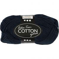 Cotton Yarn, no. 8/4, L: 170 m, dark blue, 50 g/ 1 ball
