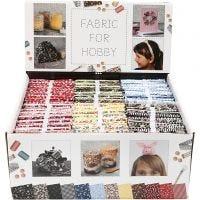 Patchwork fabric, size 45x55 cm, 100 g, assorted colours, 48 bundle/ 1 pack