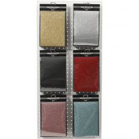 Iron on foil, 148x210 mm, glitter, assorted colours, 6x10 sheet/ 1 pack