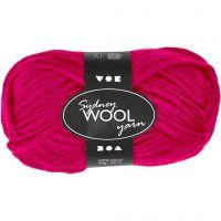 Sydney Yarn, L: 50 m, pink, 50 g/ 1 ball
