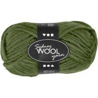 Sydney Yarn, L: 50 m, green, 50 g/ 1 ball