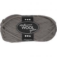Melbourne Yarn, L: 92 m, grey, 50 g/ 1 ball