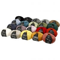 Wool yarn, L: 125 m, assorted colours, 20x100 g/ 1 pack