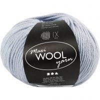 Wool yarn, L: 125 m, dusty blue, 100 g/ 1 ball