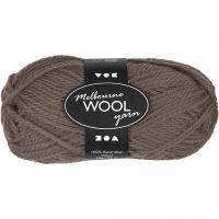 Melbourne Yarn, L: 92 m, grey brown, 50 g/ 1 ball