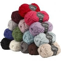 Sydney Yarn, L: 50 m, Content may vary , assorted colours, 15x50 g/ 1 pack