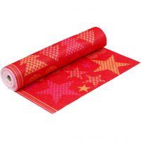 Motif Felt, W: 45 cm, thickness 1,5 mm, 180-200 g, orange, red, 5 m/ 1 roll