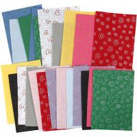 Craft Felt, 21x30 cm, thickness 1 mm, Content may vary , assorted colours, 24 sheet/ 1 pack