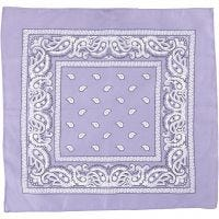 Printed Bandana, size 55x55 cm, purple, 1 pc