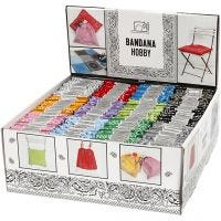 Printed Bandana, assorted colours, 144 pc/ 1 pack