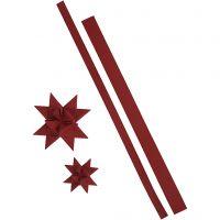Star strips, L: 44+78 cm, W: 15+25 mm, 350 g, red, 24 strips/ 1 pack