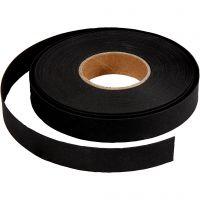 Weaving strips, W: 15 mm, thickness 0,55 mm, black, 9,5 m/ 1 roll