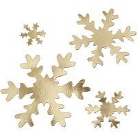 Snowflake, D: 3+5+8+10 cm, 350 g, gold, 16 pc/ 1 pack