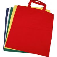 Shopping Bag, size 38x42 cm, 135 g, assorted colours, 5 pc/ 1 pack