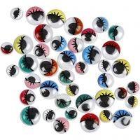 Googly Eyes, D: 8-12 mm, 36 asstd./ 1 pack
