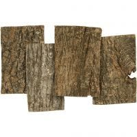 Bark Plates, size 9,5x6,5 cm, thickness 1-4 mm, 340 g/ 1 pack
