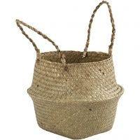 Seagrass basket, H: 13/24 cm, D: 27 cm, 1 pc