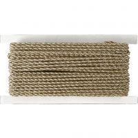 Cord, thickness 2 mm, gold, 5 m/ 1 roll