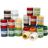 Paper String, assorted colours, 48x10 m/ 1 pack