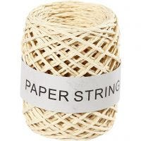 Paper String, thickness 1 mm, natural, 50 m/ 1 roll