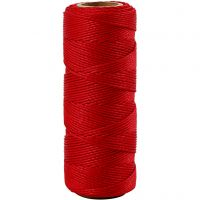 Bamboo Cord, thickness 1 mm, red, 65 m/ 1 roll