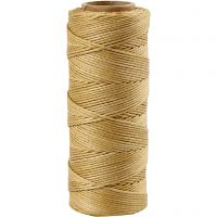 Bamboo Cord, thickness 1 mm, gold, 65 m/ 1 roll