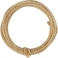 Jute wire, thickness 2-4 mm, natural, 3 m/ 1 pack