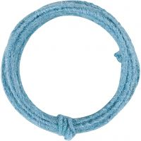 Jute wire, thickness 2-4 mm, sky blue, 3 m/ 1 pack