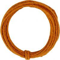 Jute wire, thickness 2-4 mm, orange, 3 m/ 1 pack
