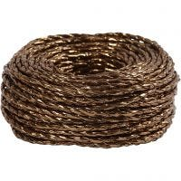 Paper Yarn, thickness 3,5-4 mm, copper, 25 m/ 1 roll