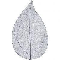 Skeleton leaves, L: 6-8 cm, blue, 20 pc/ 1 pack