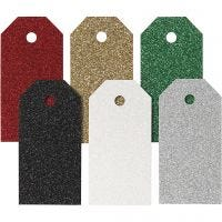 Manila Tags, size 5x10 cm, 300 g, assorted colours, 6x15 pc/ 1 pack