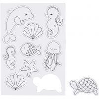 Magnets, Sea creatures, 14,85x21 , 1 sheet