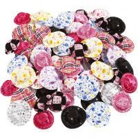 Mini Hats, D: 4 cm, assorted colours, 100 pc/ 1 pack