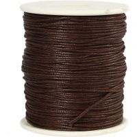 Cotton Cord, thickness 1 mm, brown, 100 m/ 1 pack