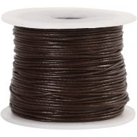 Leather Cord, thickness 1 mm, brown, 50 m/ 1 roll