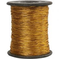 Thread, thickness 0,5 mm, gold, 100 m/ 1 roll
