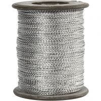 Thread, thickness 0,5 mm, silver, 100 m/ 1 roll
