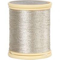 DMC Metallic Thread, thickness 0,36 mm, silver, 40 m/ 1 roll