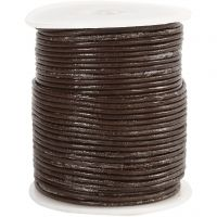 Leather Cord, thickness 2 mm, brown, 50 m/ 1 roll