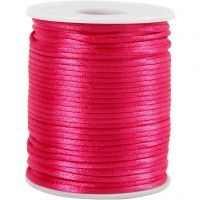 Satin Cord, thickness 2 mm, pink, 50 m/ 1 roll