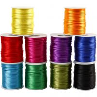 Satin Cord, thickness 2 mm, bold colours, 10x50 m/ 1 pack