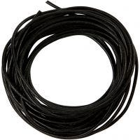 Leather Cord, thickness 2 mm, black, 4 m/ 1 roll
