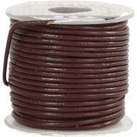 Leather Cord, thickness 1 mm, brown, 10 m/ 1 roll