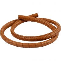 Crocodile Cord, thickness 6 mm, brown, 50 cm/ 1 pack