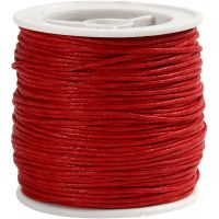 Cotton Cord, thickness 1 mm, red, 40 m/ 1 roll