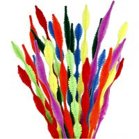 Pipe Cleaners, waved, L: 30 cm, thickness 5-12 mm, assorted colours, 28 asstd./ 1 pack